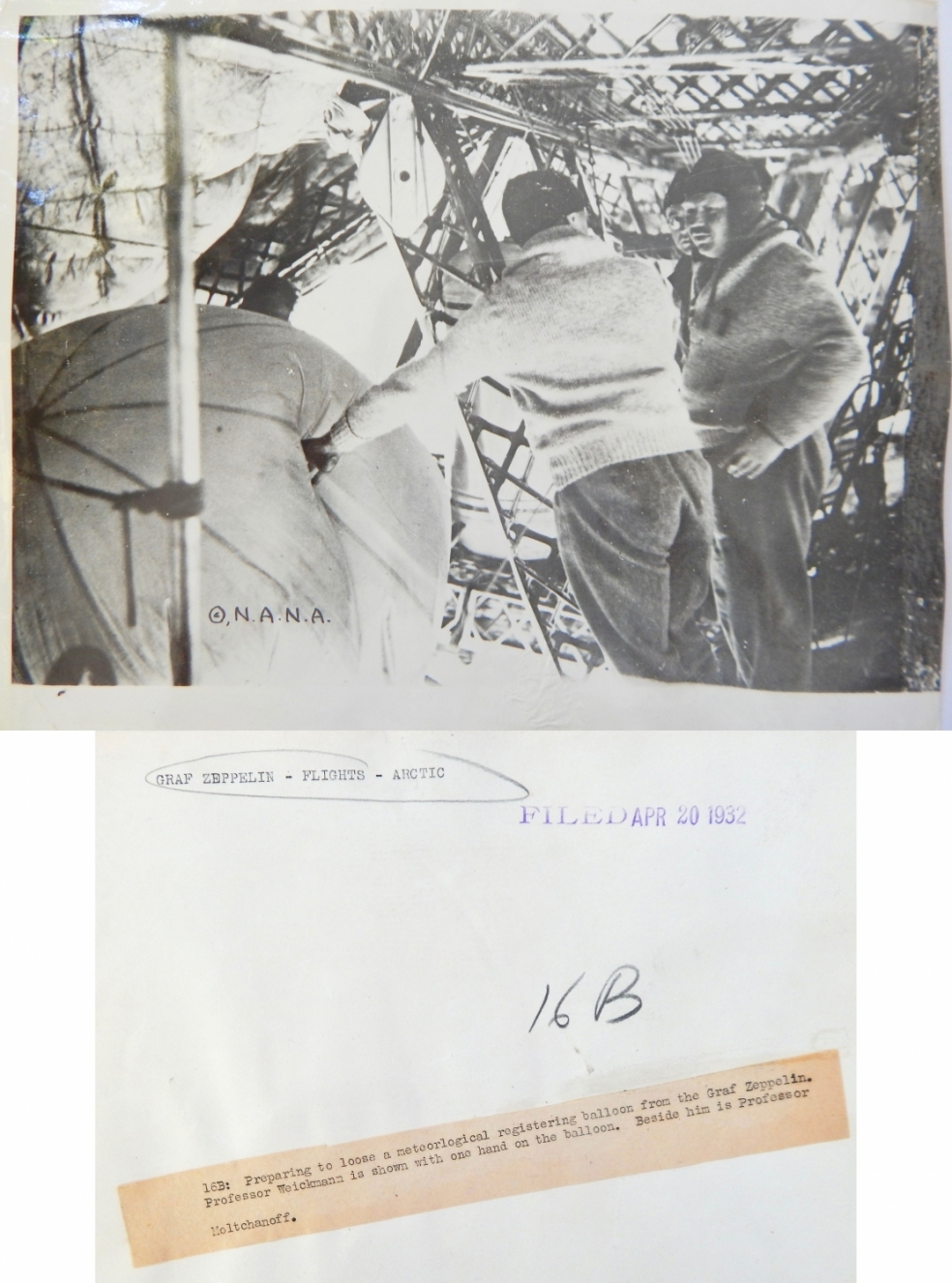 1931--Preparing for radiosonde release