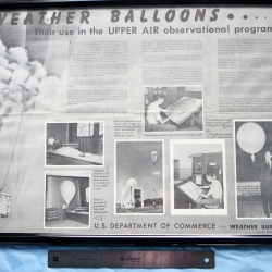 POSTER: Weather balloon/radiosonde, Weather Bureau 1962