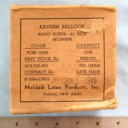 BALLOON: Kaysam, Molded Latex Product, 350-Gram
