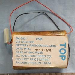 BATTERY: BA-852, Radiosonde, Viz
