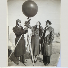 1935--10,000th Weather Balloon Release [PIBAL] at Chicago Municipal Airport, Chicago IL