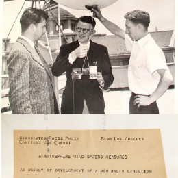 1938--Dr. Krick, Capt. Maier & Mr. Easton Ready to Launch Radiosonde, Pasadena