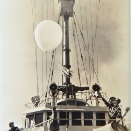 1940/1942-Launching Radiosonde from USS Duane, mid-Atlantic