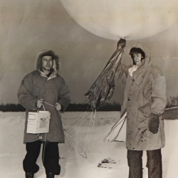 1950--Radiosonde Launch, International Falls, MN