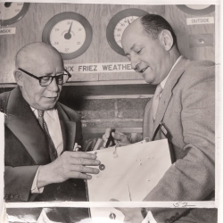 1954--Howard T. Orville (right) Explaining Radiosonde, Probably Baltimore