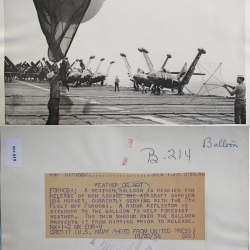 1954--Balloon Launch Aboard USS Hornet, off Formosa