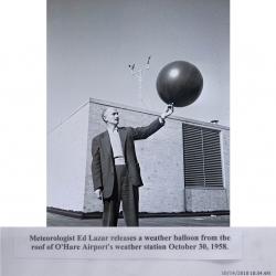 1958--Pilot Balloon Release O'Hare AP IL