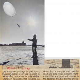 1977-- Launching a Radiosonde, Greenbay, WI (Combined)