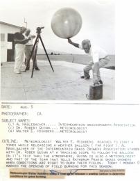 1990s--Pilot Balloon Release, Idaho